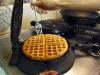 Waffle on stove
