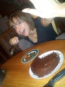 trish high five chocolate cake